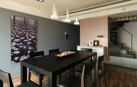 Dark Grey Accent Wall by Dining Room Accentuate Wall Decor For Dining Room Ideas