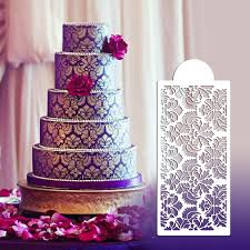 damask cake stencil set tier 5 wall stencils for painting