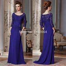 dress to party royal blue chiffon lace appliques sequins dress to party