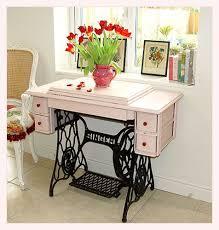Singer Sewing Machine Desk Casa De Fifia Blog De Decoração Sewing Machine Tables Flea
