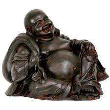 oriental furniture 5 in sitting happy buddha decorative statue