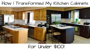 Refinishing Wood Cabinets Kitchen How I Transformed My Kitchen Cabinets For Under 100 Youtube