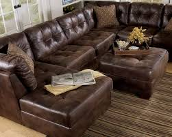 Brown Leather Sectional Sofa by Furniture Classic Brown Leather Sectional Tufted Couch With