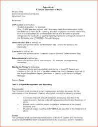 sow template statement of work exle expin franklinfire co