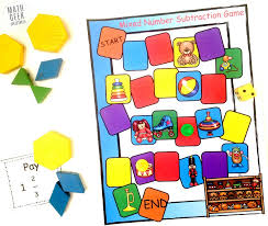 subtracting mixed numbers game hands on math free