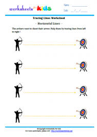 tracing lines worksheets for kids