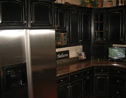 Painted Black Kitchen Cabinets Before And After Black Distressed Kitchen Cabinets Tips For Making Distressed