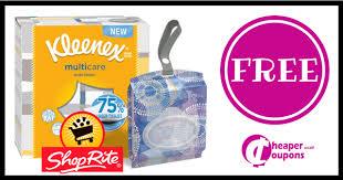 shoprite free kleenex tissues moneymaker thru 7 1 cheaper