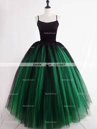 green tulle skirts darkincloset