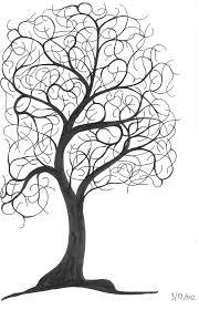 a tree sketch ninth circle design