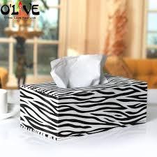 zebra tissue paper 2018 wholesale pu leather tissue boxes zebra toilet paper holder