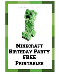 free minecraft party printables delicate construction