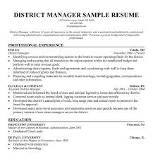 Retail Area Manager Resume District Manager Resumes Template