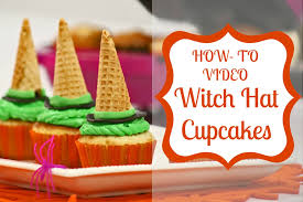 halloween cupcake idea witch hats youtube