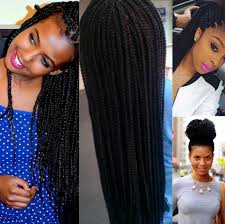 box braids hairstyle human hair or synthtic want braids but allergic to synthetic hair here are some