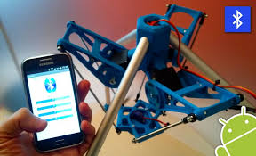 android app to android app to a 3dprinted robot
