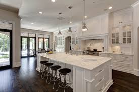 White Rustic Kitchen Cabinets by Kitchens U0026 Dining Areas Custom Home Builder Luxury Home