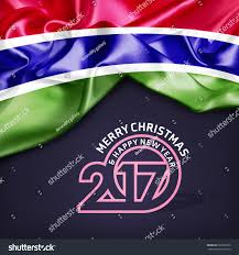 Gambia Flag Royalty Free Merry Christmas And Happy New Year 2017 U2026 503325970