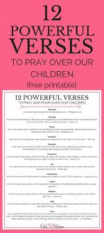 12 powerful verses to pray our children with free printable