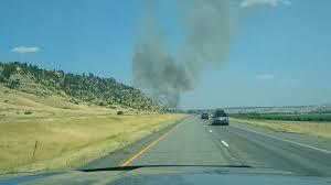 Wild Fire Near Billings Mt by Fire East Of Columbus Mt 7 30 2017 Youtube
