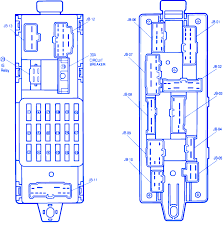 mazda 323 1990 main fuse box block circuit breaker diagram