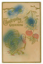 vintage thanksgiving postcards embossed ebay