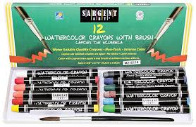 amazon com sargent art 22 1112 12 count water color crayons with