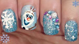 disney u0027s frozen olaf nail art tutorial youtube