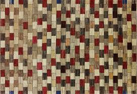 Multi Color Rug Checked Design Multicolor Super Gabbeh 7x10 Wool Hand Knotted