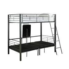 monarch specialties bunk bed u2013 twin size charcoal grey metal