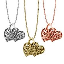 necklace hearts images Two hearts beat as one 39 necklace charles krypell jpg