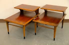 mid century end table found in ithaca mid century lane 2 tiered end tables sold elegant