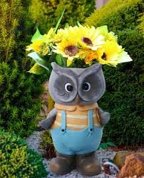 Flower Pot Sale Owl Decor Flower Pots Garden Statues 15 Inch Tall Head Planter