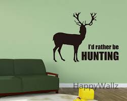 aliexpress com buy i d rather be hunting animal deer quotes wall aliexpress com buy i d rather be hunting animal deer quotes wall stickers custom colors decorative deer animal lettering quote wall art decals q139 from