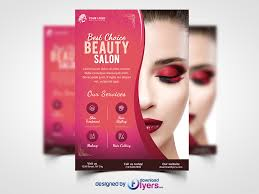awesome beauty salon flyer template free psd download beauty