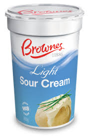light sour cream nutrition light sour cream brownes dairy