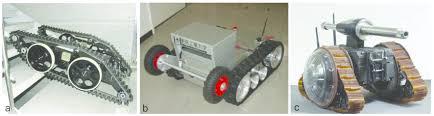 wheel track hybrid robots with variable shape tracks a kim et