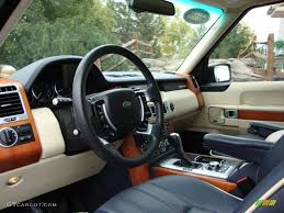 range rover dark blue navy blue parchment interior 2009 land rover range rover hse photo