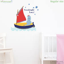 personalised goodnight igglepiggle wall sticker stickerscape