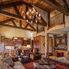 second floor balcony living room rustic with open floor plan clear