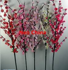 wholesale silk flowers online shop wholesale high quality plum blossom