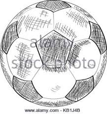 hand drawn illustration or drawing of a soccer ball a trophee a