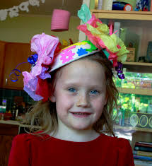 Tea Party Crafts For Kids Fun With Munchkins Tea Party Paper Bowl Hats Aunt Peaches