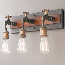 industrial rustic u0026 farmhouse bath lighting shades of light
