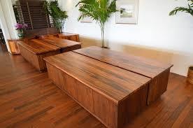 hotel buffet table made of monkeypod and mahogany