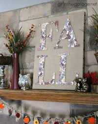 Home Decor With Burlap Fall Burlap Art And Mantel Fall Home Decor Tour In The