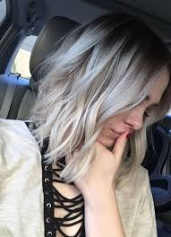 highlights for grey hair pictures picture of grey blonde highlights on dark hair for a dimensional look