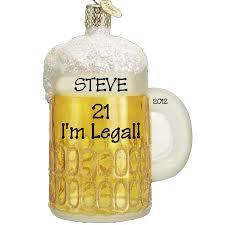 21st birthday mug of glass ornament personalized ornaments