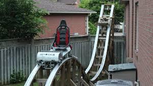 roller coaster for backyard david chesney canadian teen builds diy roller coaster in