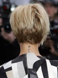 back view of wedge haircut victoria beckham short hairstyles victoria beckham pob bob
